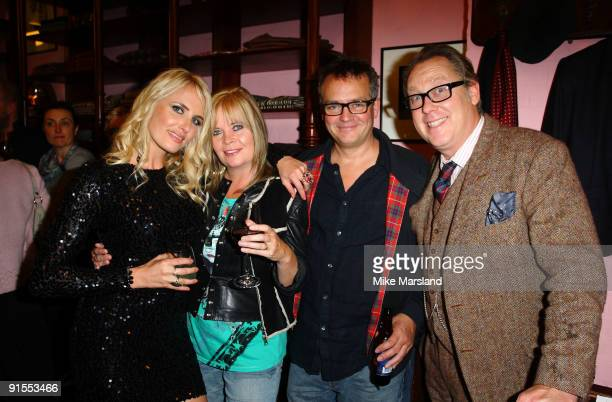 Nancy Sorrell Vic Reeves and Charlie Higson attend the launch of Vic Reeves 'Vast Book Of World Knowledge' on October 7 2009 in London England