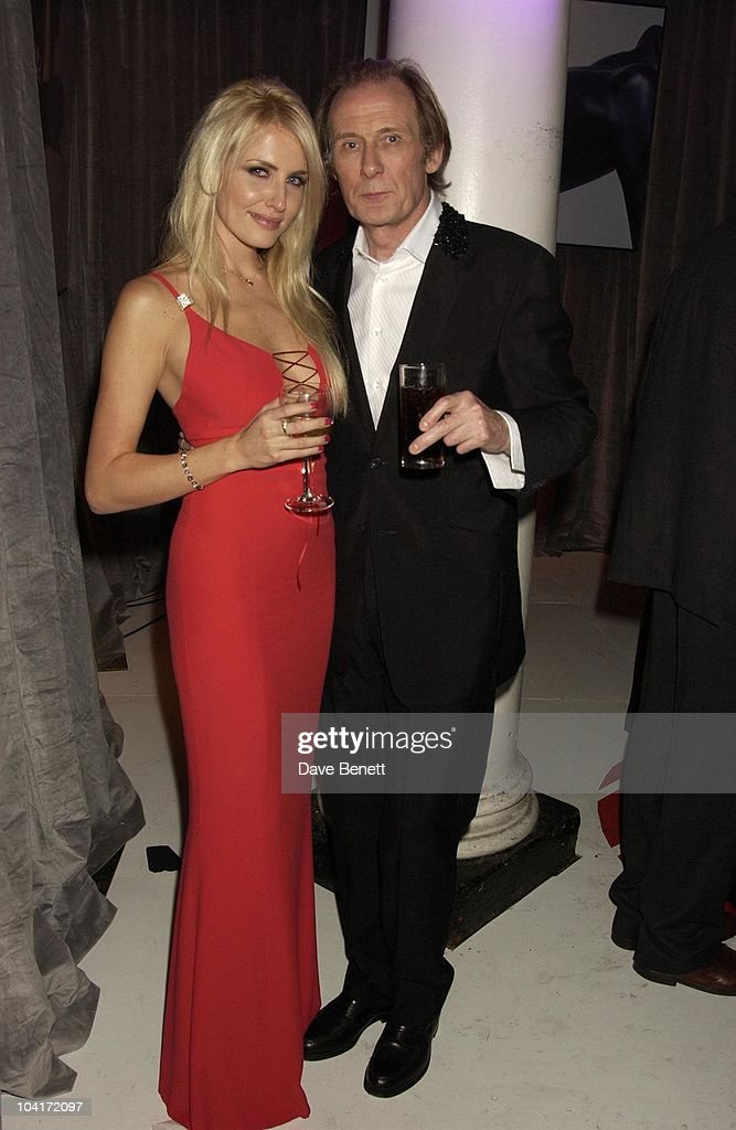 Nancy Sorrell With Bill Nighy, 'Love Actually' Movie Premiere After Party At The In & Out Club, London