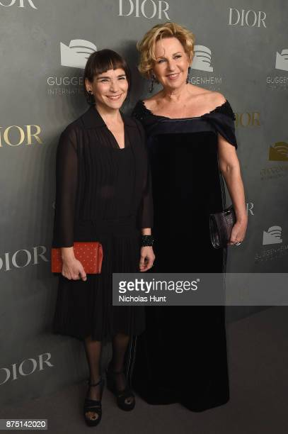 Nancy Spector and Wendy Fisher attend the 2017 Guggenheim International Gala made possible by Dior on November 16 2017 in New York City
