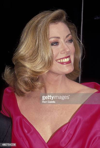Nancy Stafford attends 26th Annual Academy of Country Music Awards on April 24 1991 at the Universal Ampitheater in Universal City California