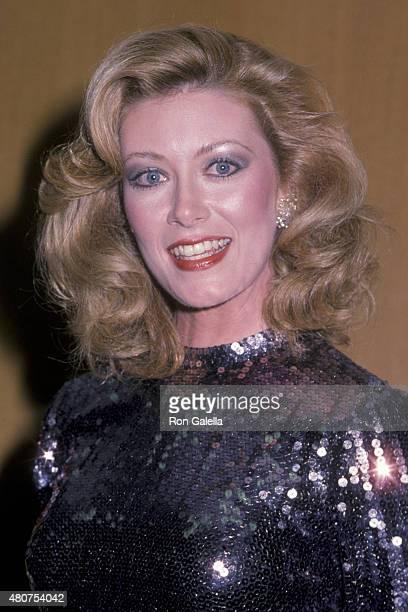 Nancy Stafford attends 41st Annual Golden Globe Awards on January 28 1984 at the Beverly Hilton Hotel in Beverly Hills California
