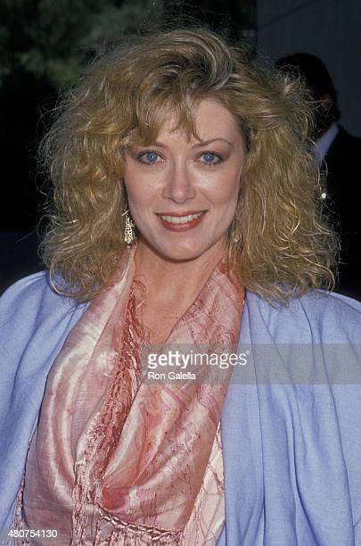 Nancy Stafford attends NBC Fall Press Tour on August 7 1988 at the Registry Hotel in Los Angeles California
