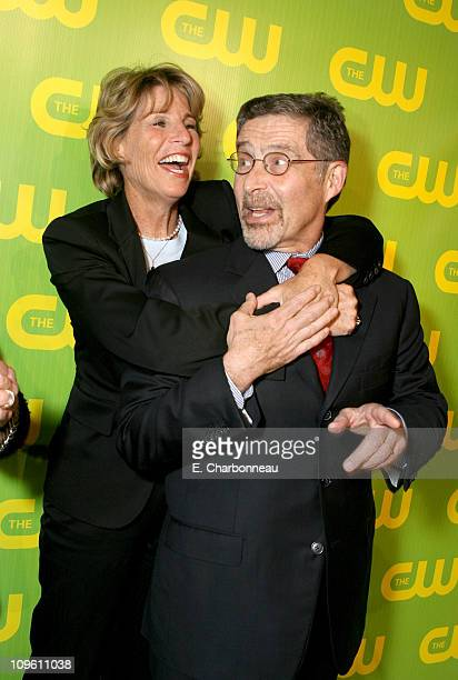 Nancy Tellem and Barry Meyer during The CW Launch Party Inside at WB Main Lot in Burbank California United States