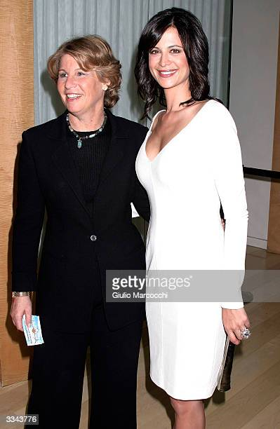Nancy Tellem President of CBS Entertainmnet and actress Catherine Bell attend the Paramount Network Television and CBS 200 Episodes of JAG...