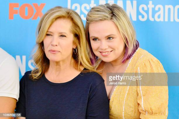 Nancy Travis and Amanda Fuller attend FOX Celebrates The Premiere of 'Last Man Standing' With The Last Fan Standing Marathon Event at Hollywood and...