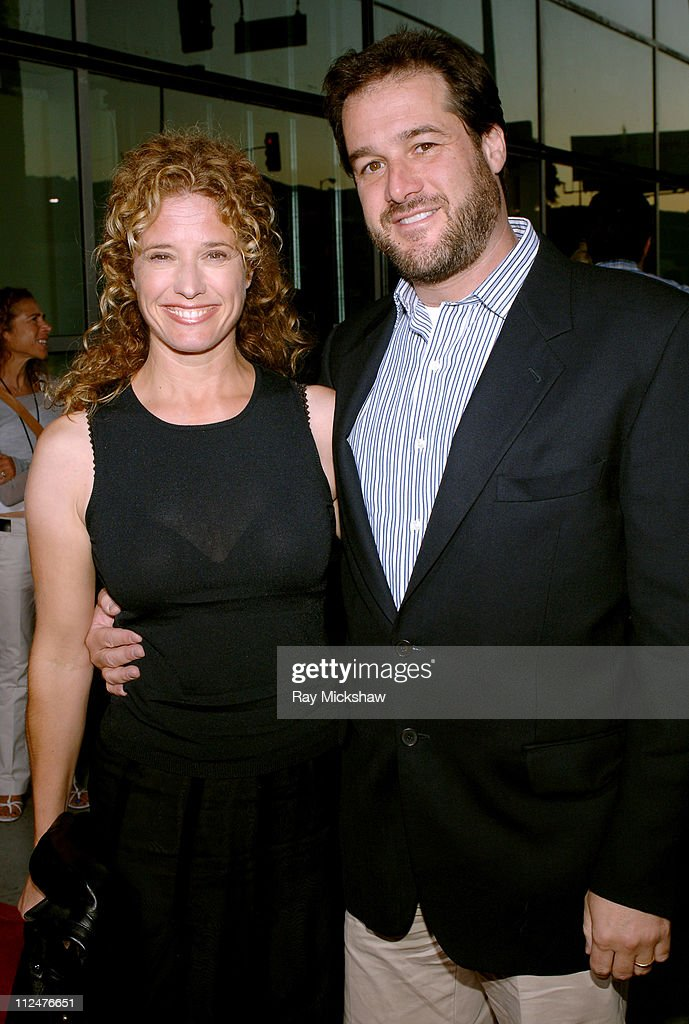 Nancy Travis and Rob Fried producer of u0027The Manu0027 during u0027The Manu0027