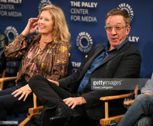 "Nancy Travis and Tim Allen from ""Last Man Standing"" appear on stage at The Paley Center for Media's 2018 PaleyFest Fall TV Previews - Fox at The..."