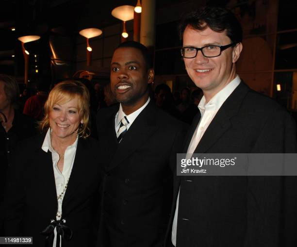 Nancy Utley of Fox Searchlight Pictures Chris Rock and Peter Rice President of Fox Searchlight Pictures