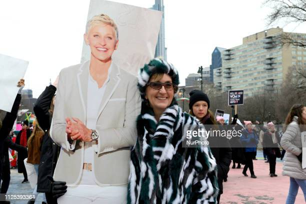 Nancy VolpeBeringer of Philadelphia tells that here Ellen has joined here at several events as she participates in the January 19 2019 Womens March...