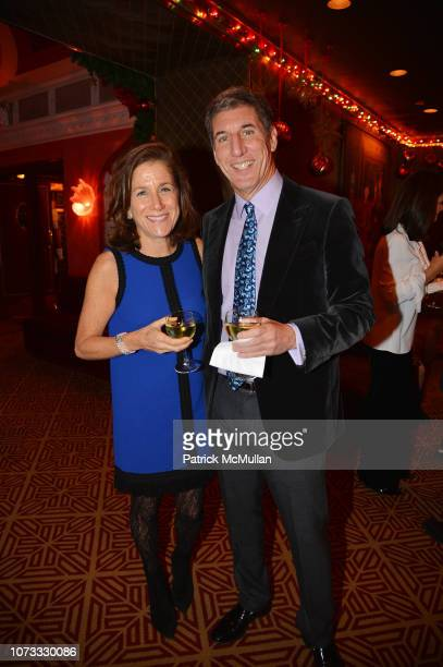 Nancy Weltchek and Richard Schloss attend George Farias Anne Jay McInerney Host A Holiday Party at The Doubles Club on December 13 2018 in New York...