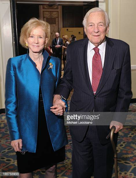 Nancy Whitehead and Honoree John C Whitehead attend the annual Freedom Award Benefit hosted by the International Rescue Committee at The...
