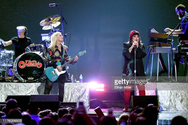 Nancy Wilson and Ann Wilson of Heart perform onstage during the 2019 iHeartRadio Music Festival at T-Mobile Arena on September 20, 2019 in Las Vegas,...