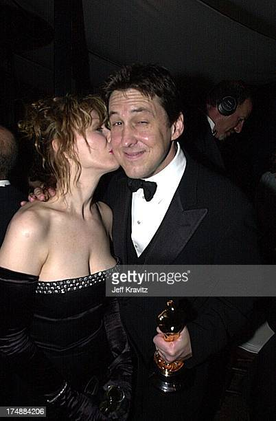 Nancy Wilson and Cameron Crowe during DreamWorks Oscar Party 2001