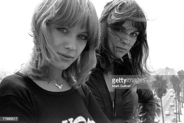 Nancy Wilson & Ann Wilson of Heart on roof overlooking Sunset Blvd. In Hollywood, CA.; Various Locations; Mark Sullivan 70's Rock Archive; Hollywood;...