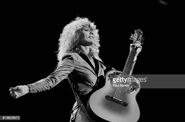 Nancy Wilson of Heart at the International Ampitheater in Chicago, Illinois, June 1, 1979.