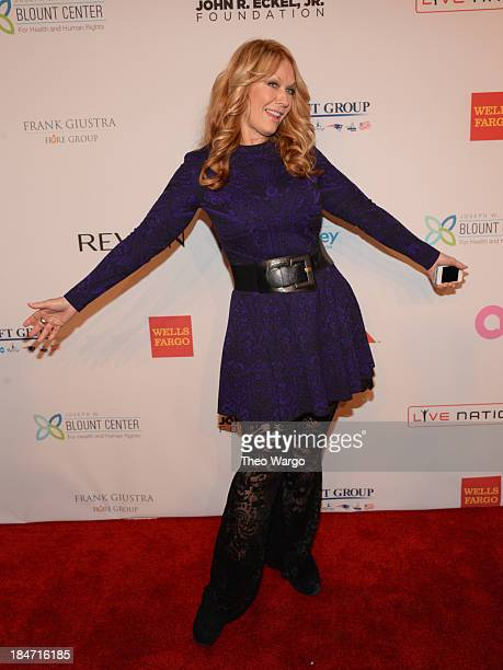 Nancy Wilson of Heart attends the Elton John AIDS Foundation's 12th Annual An Enduring Vision Benefit at Cipriani Wall Street on October 15 2013 in...