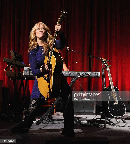 Nancy Wilson of Heart attends the Elton John AIDS Foundation's 12th Annual An Enduring Vision Benefit at Cipriani Wall Street on October 15, 2013 in...