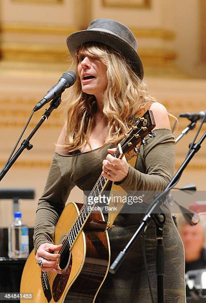 Nancy Wilson of Heart attends The Music of Paul Simon rehearsals at Carnegie Hall on March 31 2014 in New York City