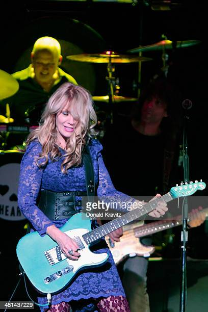 Nancy Wilson of Heart performs at Caesars Atlantic City on March 29 2014 in Atlantic City New Jersey