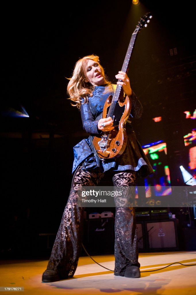 Nancy Wilson of Heart performs during the Bumbershoot Music Festival at Seattle Center on August 31, 2013 in Seattle, Washington.