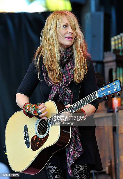 Nancy Wilson of Heart performs on Day 2 of the 27th Annual Bridge School Benefit concert at Shoreline Amphitheatre on October 27, 2013 in Mountain...
