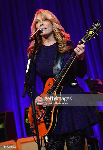 Nancy Wilson of Heart performs onstage at the Elton John AIDS Foundation's 12th Annual An Enduring Vision Benefit at Cipriani Wall Street on October...