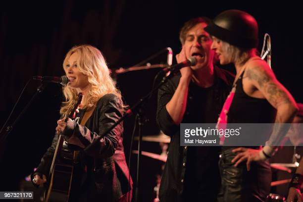 Nancy Wilson of Heart Robert Ross and Star Anna perform on stage during the MusiCares Concert For Recovery presented by Amazon Music at the Showbox...