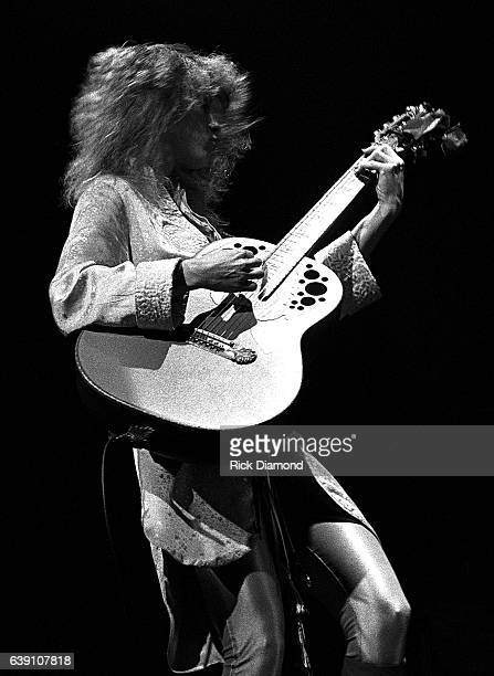 Nancy Wilson of Rock group Heart performs at The Omni Coliseum in Atlanta Georgia September 28 1978
