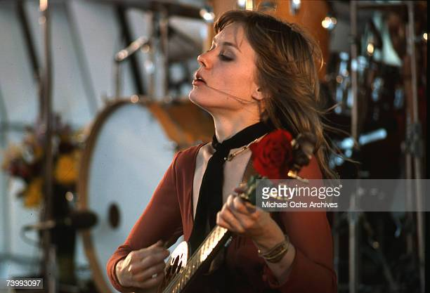 """Nancy Wilson of the rock band """"Heart"""" poses for a portrait in circa 1977."""