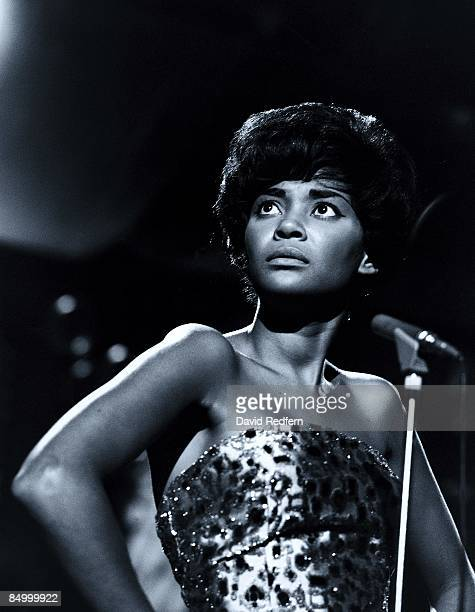 Nancy Wilson US jazz singer in concert singing into a microphone circa 1967