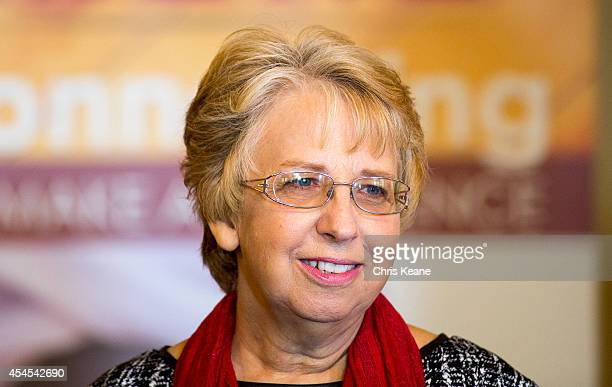 Nancy Writebol the SIM USA missionary who recovered from Ebola Virus Disease contracted in Liberia speaks at a news conference at the SIM USA...