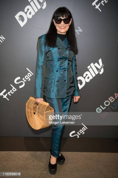 Nancye Ferguson arrives at the launch event of Global Intuition Collection at Fred Segal on May 29 2019 in Los Angeles California
