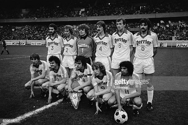 Nancy's team before the French Cup final against Nice Nancy won 10 Bernard Caron Olivier Rouyer Michel Platini Paco Rubio Fathi Chebel JeanClaude...