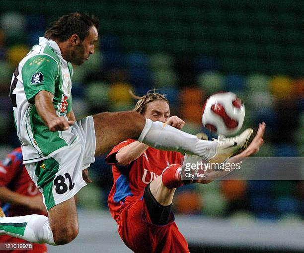 Nandinho of Setubal during the UEFA Cup first round match between Vitoria Setubal and Heerenveen in Lisbon Portugal on September 14 2006 The first...