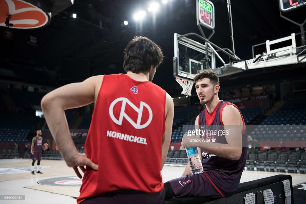 Nando de Colo, #1 of CSKA Moscow during the 2017 Turkish Airlines EuroLeague Final Four CSKA Moscow Practice at Sinan Erdem Dome on May 20, 2017 in Istanbul, Turkey.