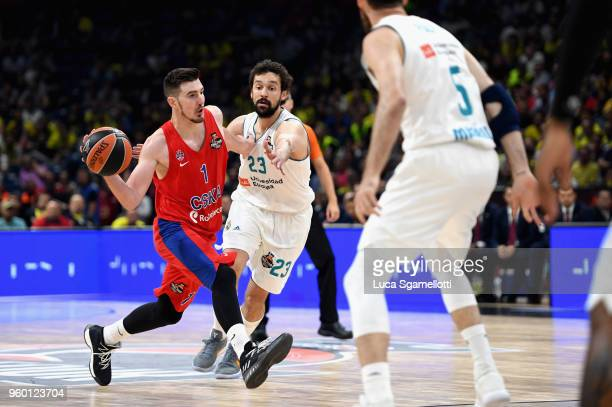 Nando de Colo #1 of CSKA Moscow during the 2018 Turkish Airlines EuroLeague F4 Semifnal B game between Semifinal A CSKA Moscow v Real Madrid at Stark...