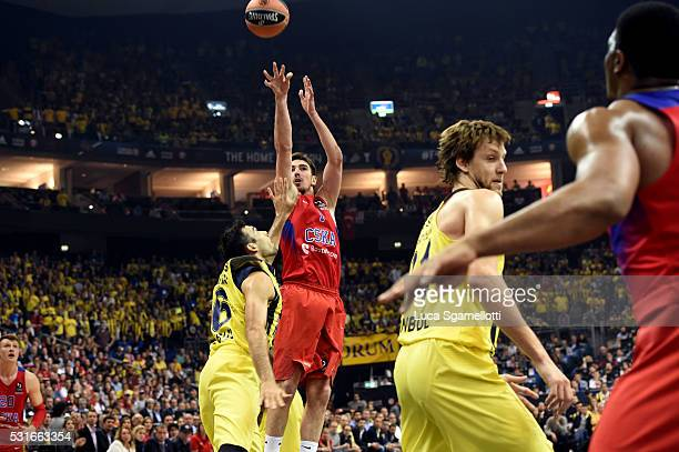 Nando De Colo #1 of CSKA Moscow during the Turkish Airlines Euroleague Basketball Final Four Berlin 2016 Championship game between Fenerbahce...