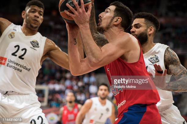 Nando de Colo #1 of CSKA Moscow in action during 2019 Turkish Airlines EuroLeague Final Four Semifinal B game between Semifinal B CSKA Moscow v Real...