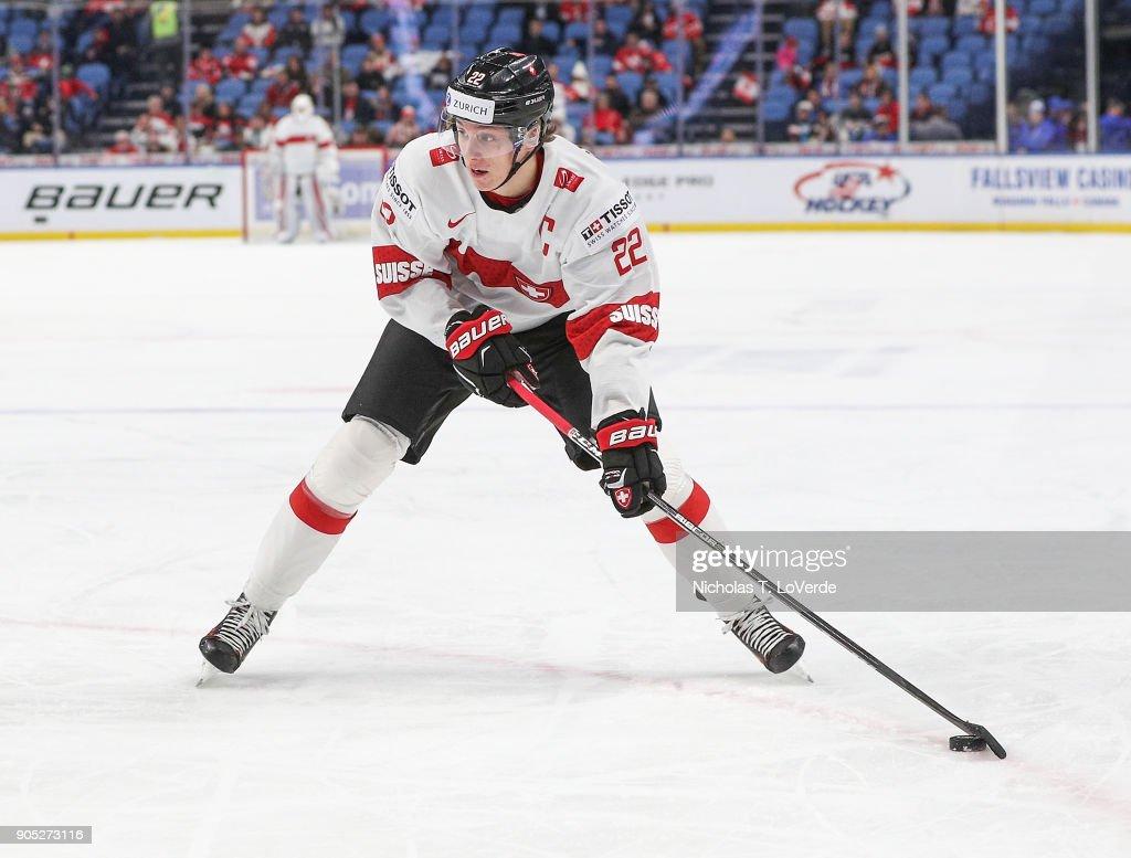 Switzerland v Canada: Quarterfinal - 2018 IIHF World Junior Championship : News Photo