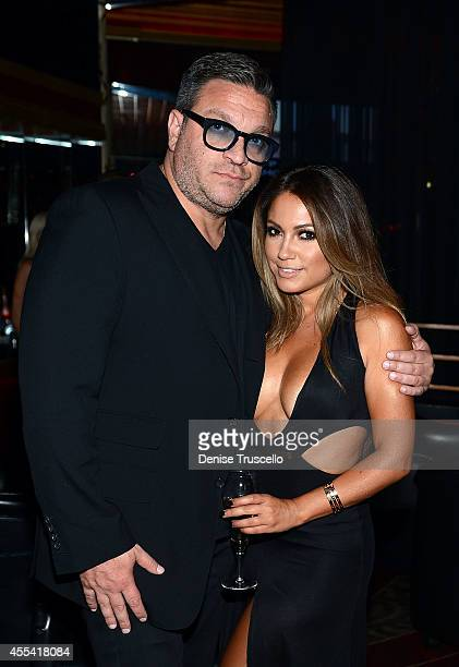 Nando Sostillo and Jessica Burciaga attend the Mexican Independence Day party at Crazy Horse III GentlemenÕs Club on September 13 2014 in Las Vegas...