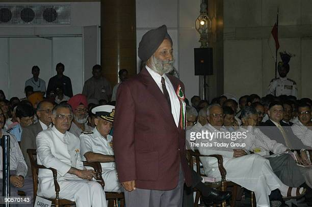 Nandy Singh winners of the Dhyan Chand Award at Sports and Adventure Awards2005 function in New Delhi India