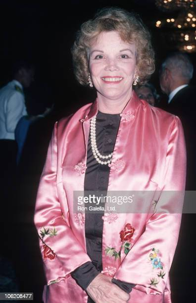 Nanette Fabray during 1986 Army Ball at Beverly Hilton Hotel in Beverly Hills California United States