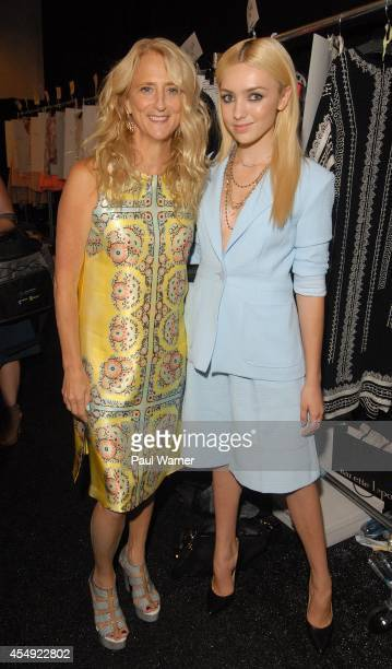 Nanette Lepore and Peyton List attends Nanette Lepore during MercedesBenz Fashion Week Spring 2015 at The Salon at Lincoln Center on September 7 2014...