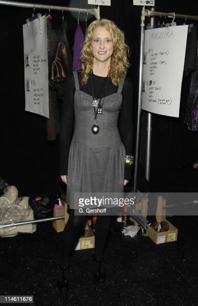 Nanette Lepore, designer during Mercedes-Benz Fashion Week Fall 2007 - Nanette Lepore - Backstage at The Promenade, Bryant Park in New York City, New...
