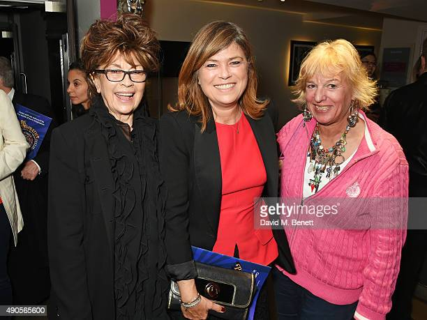 Nanette Newman Sarah Standing and Carol Thatcher attend the press night of Pure Imagination The Songs of Leslie Bricusse at the St James Theatre on...