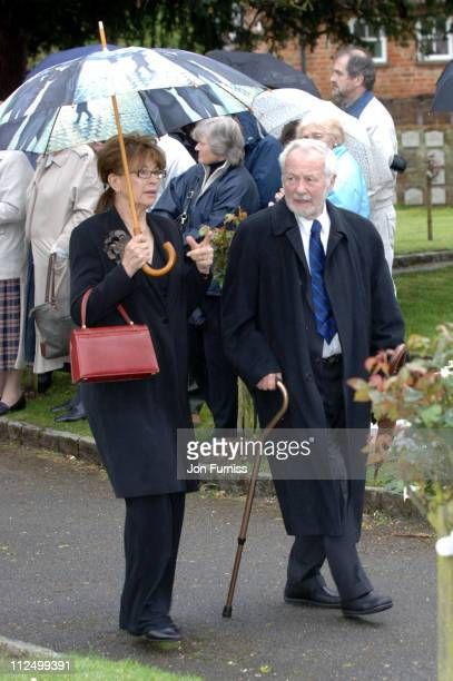 Nanette Newman with Bryan Forbes during Funeral of Actor Sir John Mills April 27 2005 at The Parish Church of Saint Mary the Virgin in Denham Great...