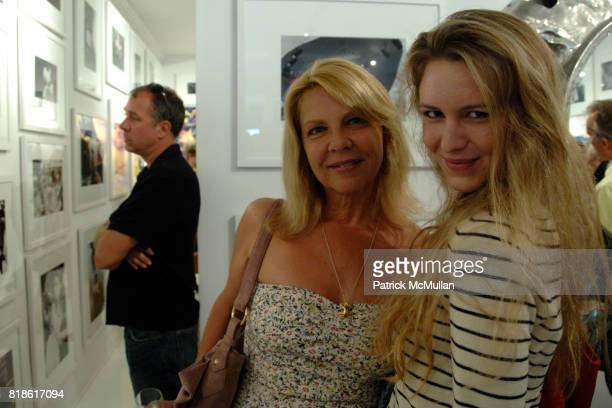 Nanette Stutterheim and Sydney Stutterheim attend Opening Exhibiton Warhol From Dylan to Duchamp at Eric Firestone Gallery on June 5 2010 in East...