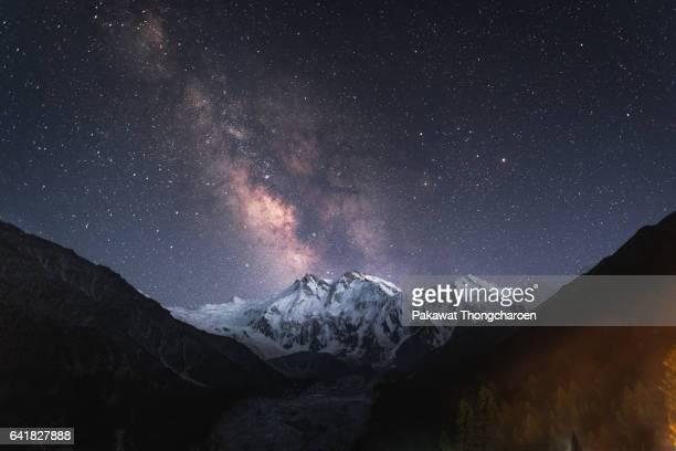 Nanga Parbat under Milky Way from Fairy Meadows, Pakistan
