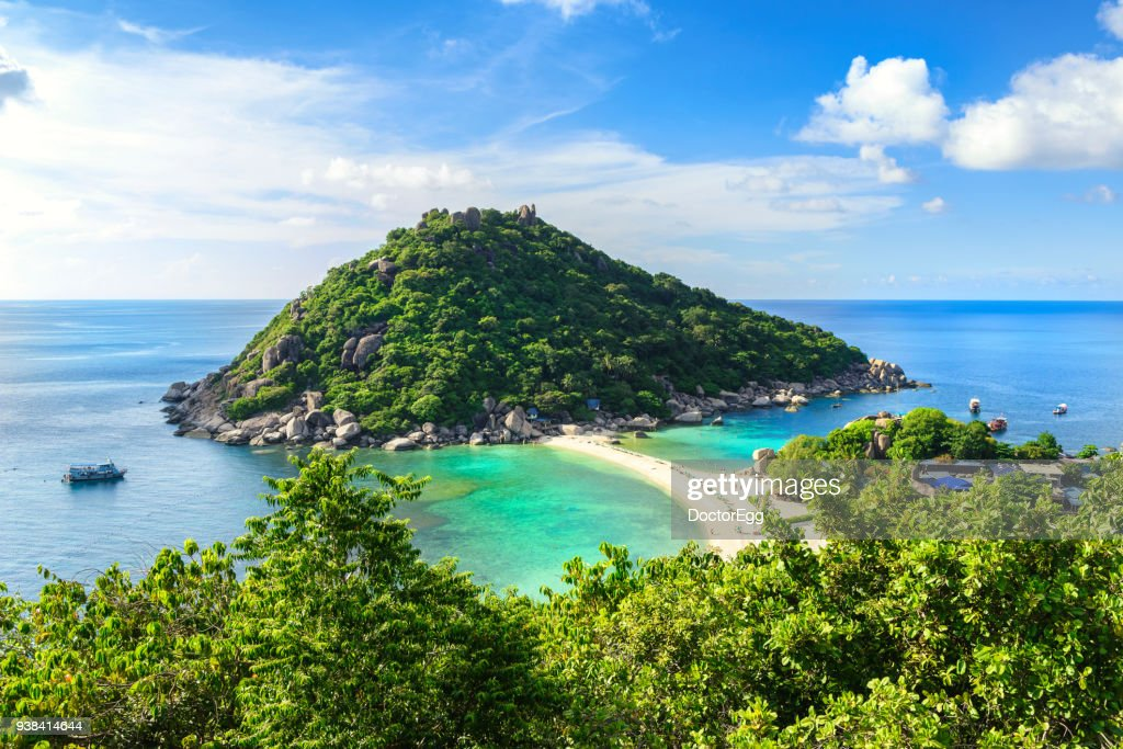 Nangyuan Island View Point with Blue Sky Day : Stock Photo