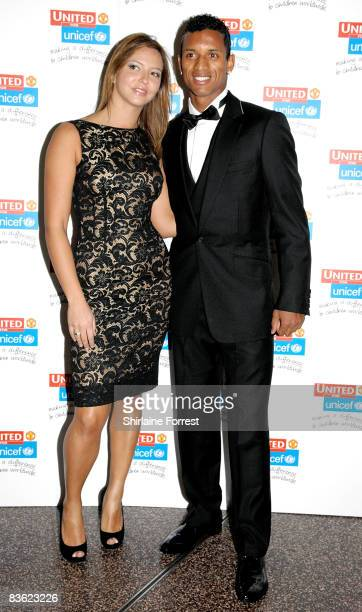 Nani and girlfriend Daniela Matrins attend the Manchester United `United for UNICEF' Gala Dinner at Manchester United Museum on November 9 2008 in...